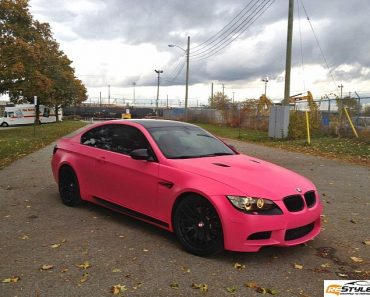E92 BMW M3 in Matte Pink