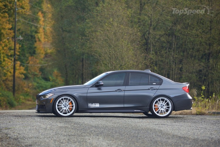 F30 BMW 3 Series with H&R suspension