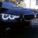 BMW M3 with hexagonal headlights