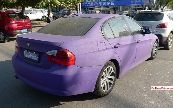 Matte Purple BMW 3 Series
