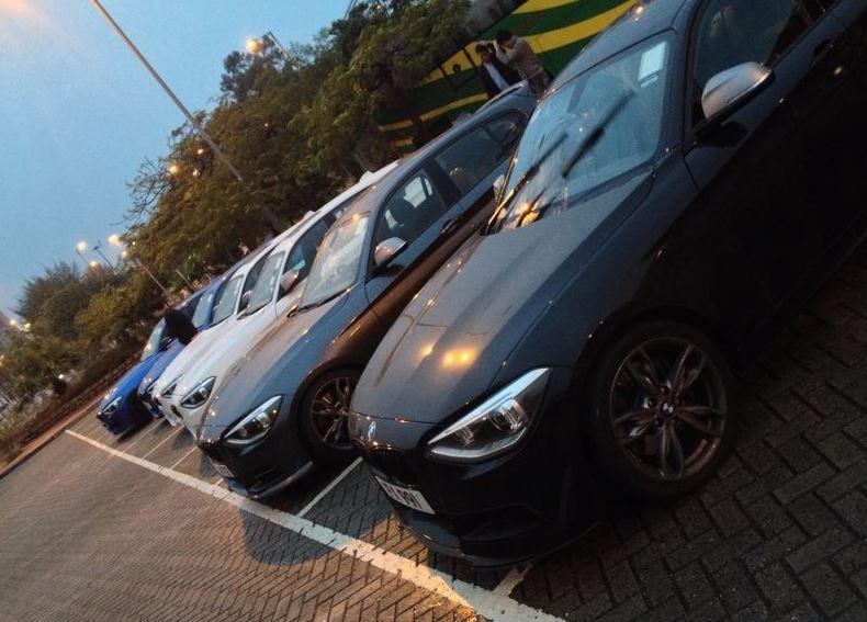 BMW M135i gathering