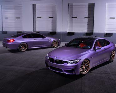 BMW M4 & M6 in Matte Purple (2)