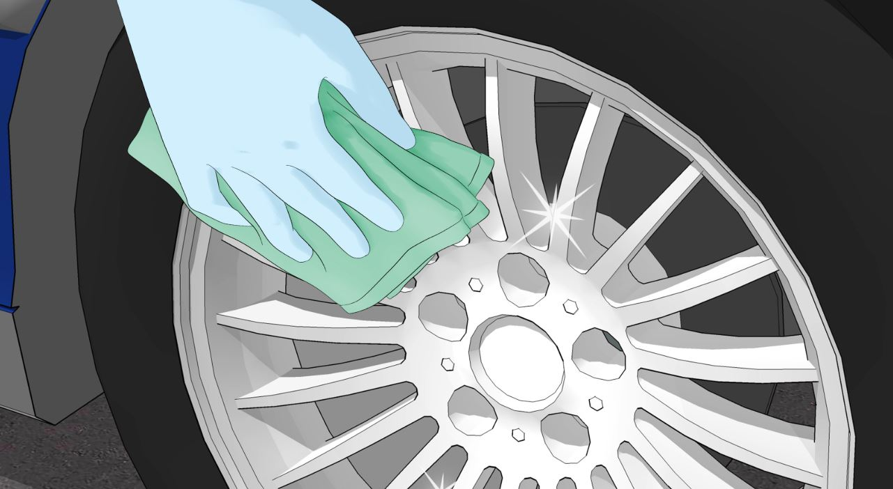 Clean and Sanding Car Wheel